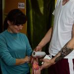 Обработка кожи после нанесения татуировки